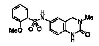 Structure of 2-methoxy-N-(3-methyl-2-oxo-1,2,3,4-tetrahydroquinazolin-6-yl)benzenesulfonamide